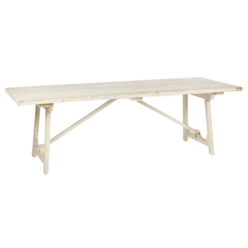 "$1480 94"" BoBo Intriguing Objects White Pine Rectangular Dining"