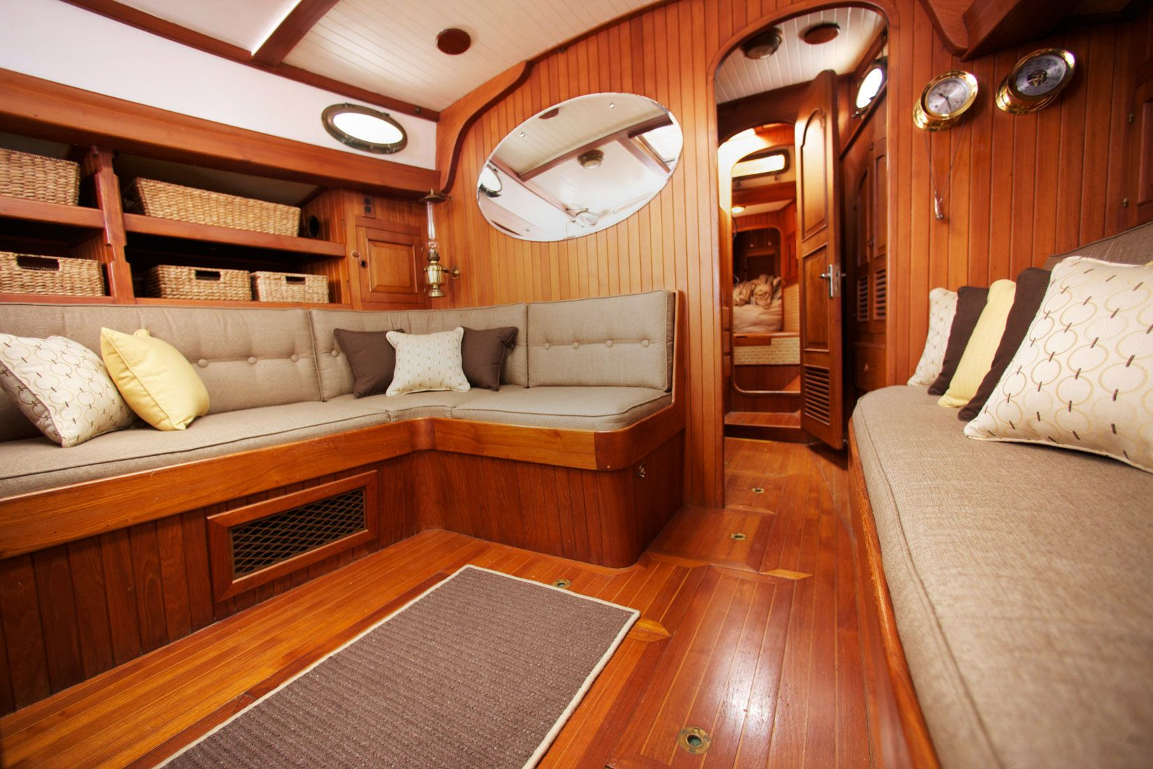 Lovely Tan Upholstery For Sailboats. Sunbrella Material