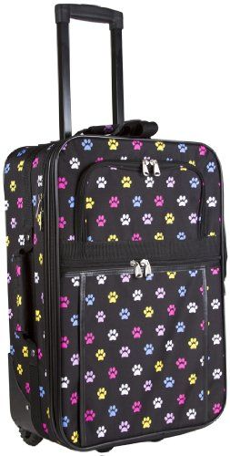 World Traveler Multicolor Paw Prints 20inch Expandable Carry On Rolling Luggage >>> This is an Amazon Affiliate link. Want to know more, click on the image.