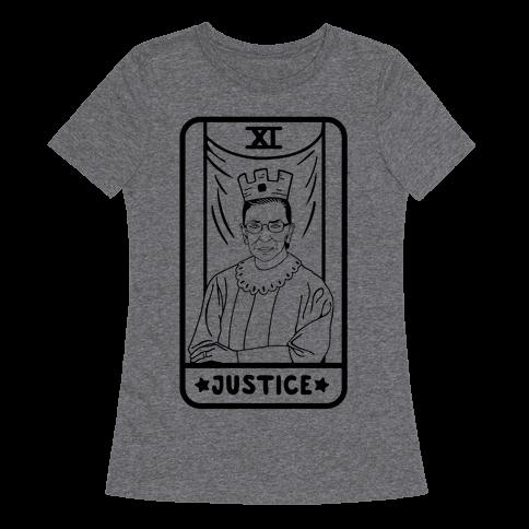 Ruth Bader Ginsburg Justice Tarot T Shirts Lookhuman With Images Justice Tarot T Shirt Printed Shirts