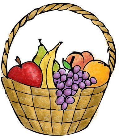 Fruit Basket Fruit Basket Drawing Basket Drawing Fruits Drawing