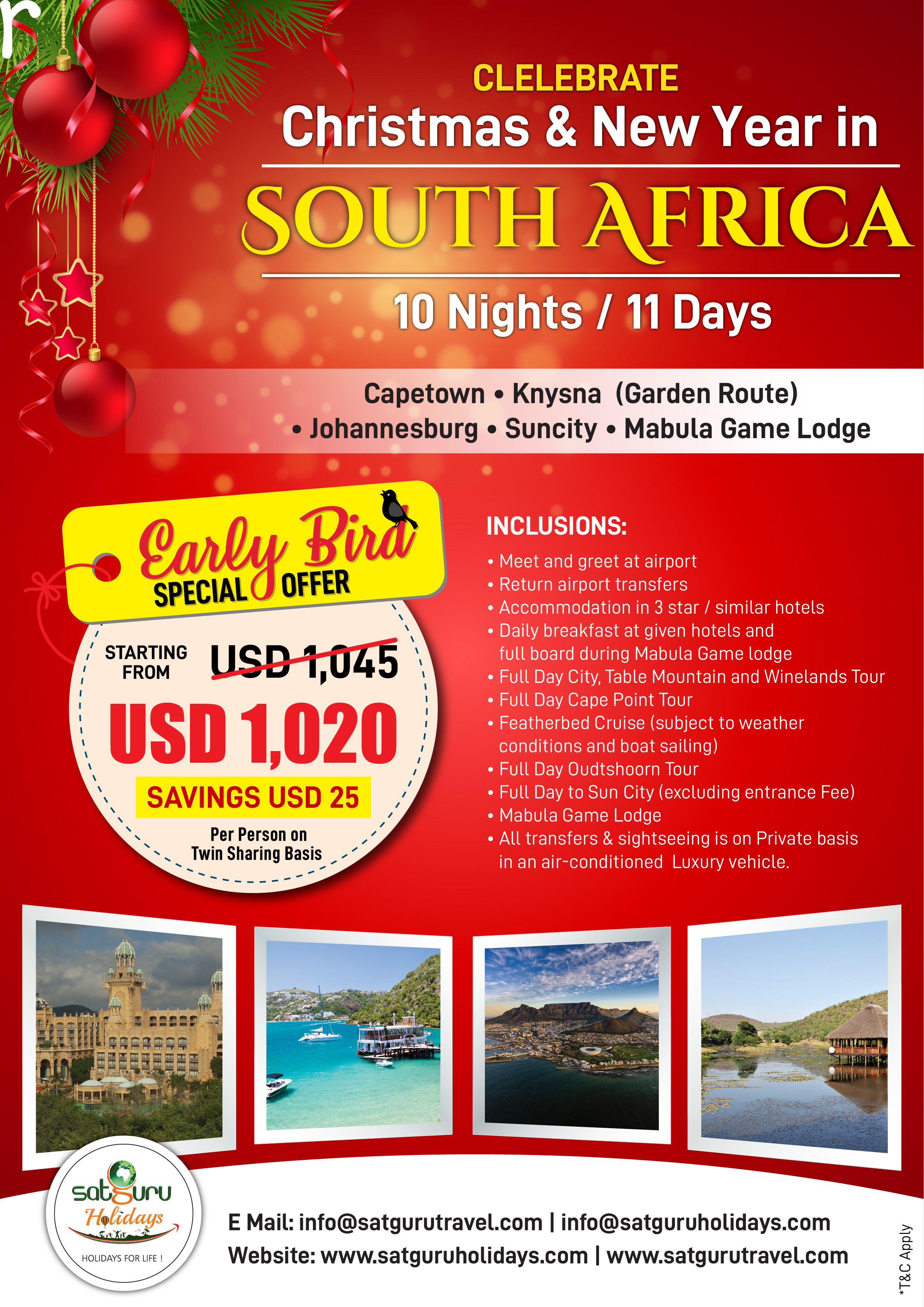 Christmas In The South 2019 Celebrate Christmas and New Year 2019 in South Africa! #Christmas