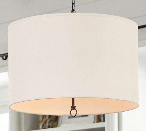 Linen Drum Pendant New House Dining Room Light