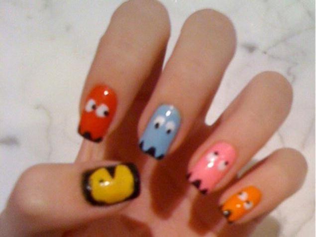 Pac-Man themed nails | Finger Painting | Pinterest | Pre deti ...