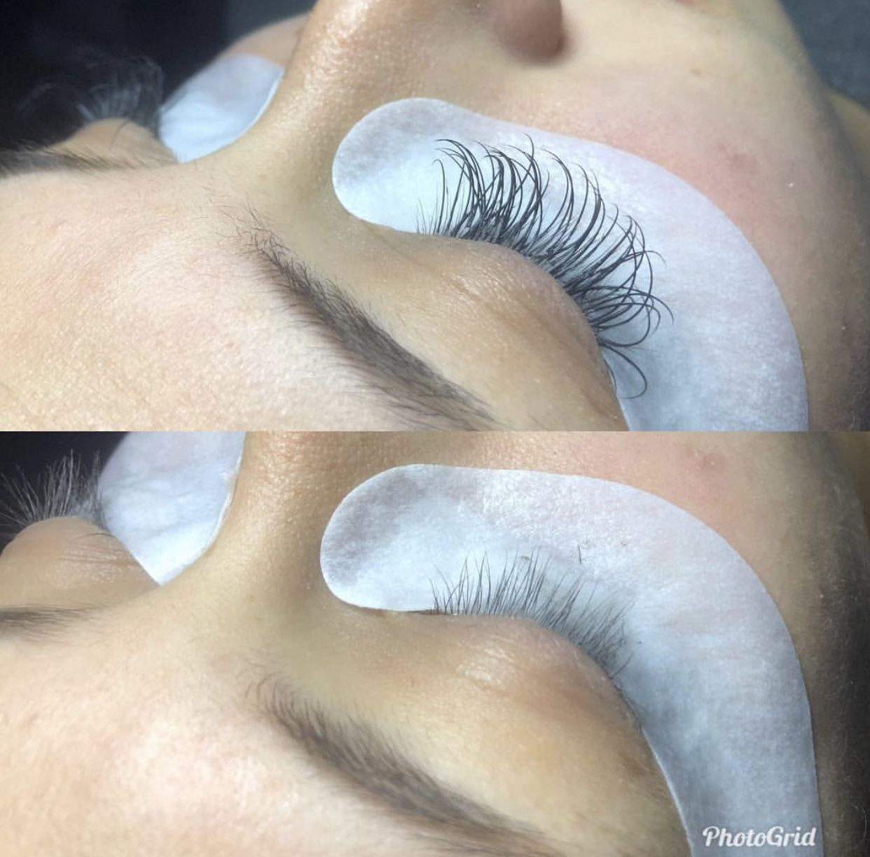 BEFORE AND AFTER LASH EXTENSION REMOVAL Eyelash