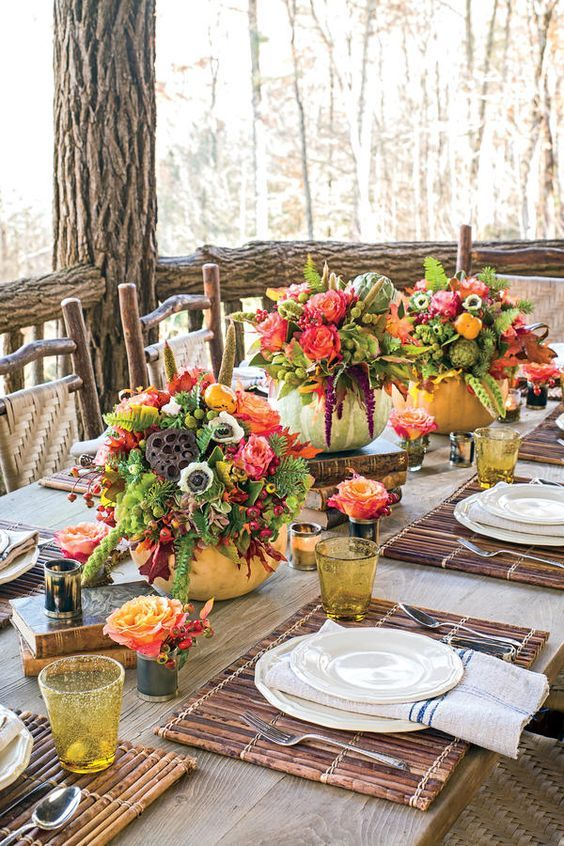 10 Rough Luxe Tablescapes You Can Copy-Rough Luxe\u2026 Deck the Hall-i
