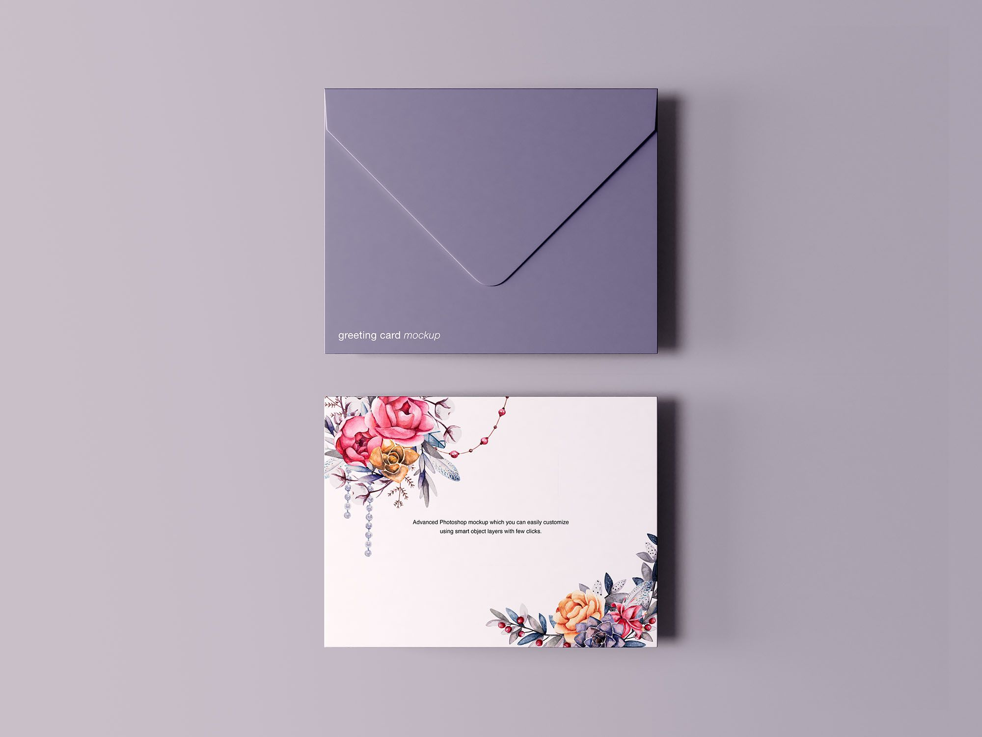 Greeting Card With Envelope Mockup Free Greeting Cards Birthday Card Template Free Mockup