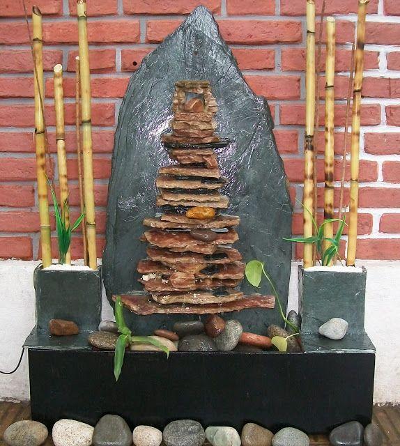 Fuente de agua feng shui grande fuentes de agua for Fuentes ornamentales jardin