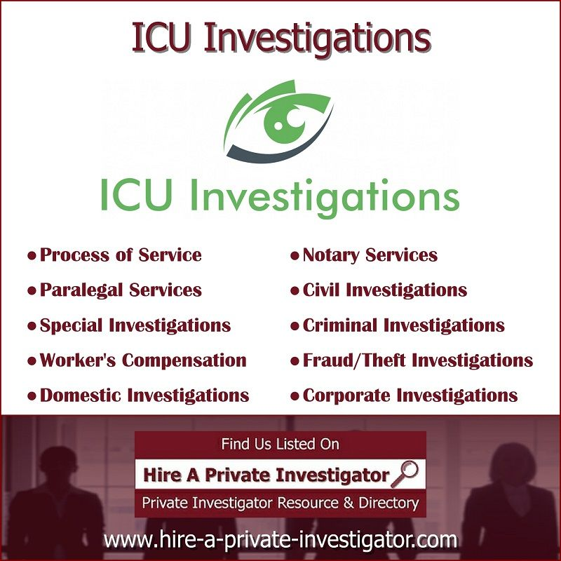 """ICU Investigations"" TOP Private Investigator in Houston"