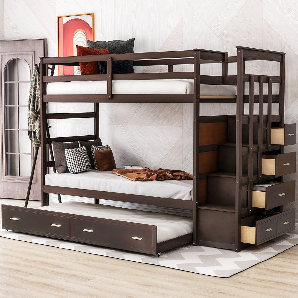 Kids Toddler Beds Bunk Bed With Trundle Twin Bunk Beds Bunk Bed Designs