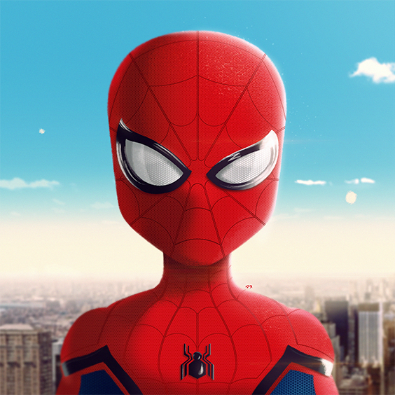 Spider Man Spiderman Homecoming Digital Painting