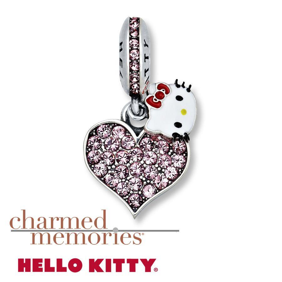 Charmed Memories Pink Flower Dangle Charm Sterling Silver aSPCgsU