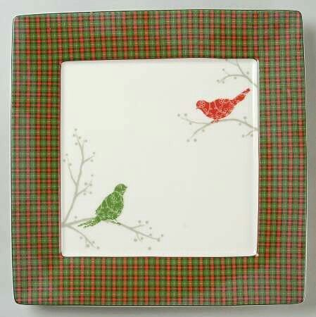 Christmas Birds Plaid by 222 Fifth Christmas China and Serving