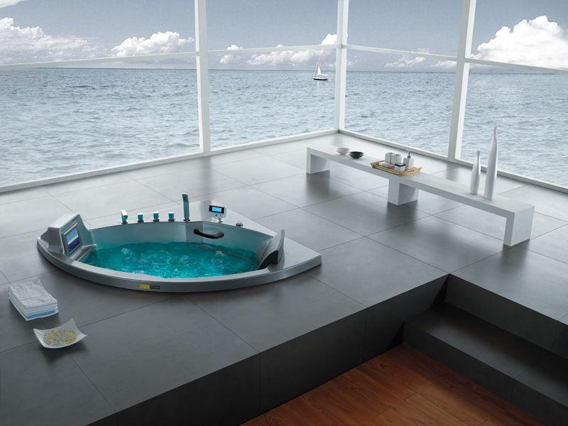 A607 Indoor Whirlpool Bath Tub   Massage Bathtub   Pinterest ...