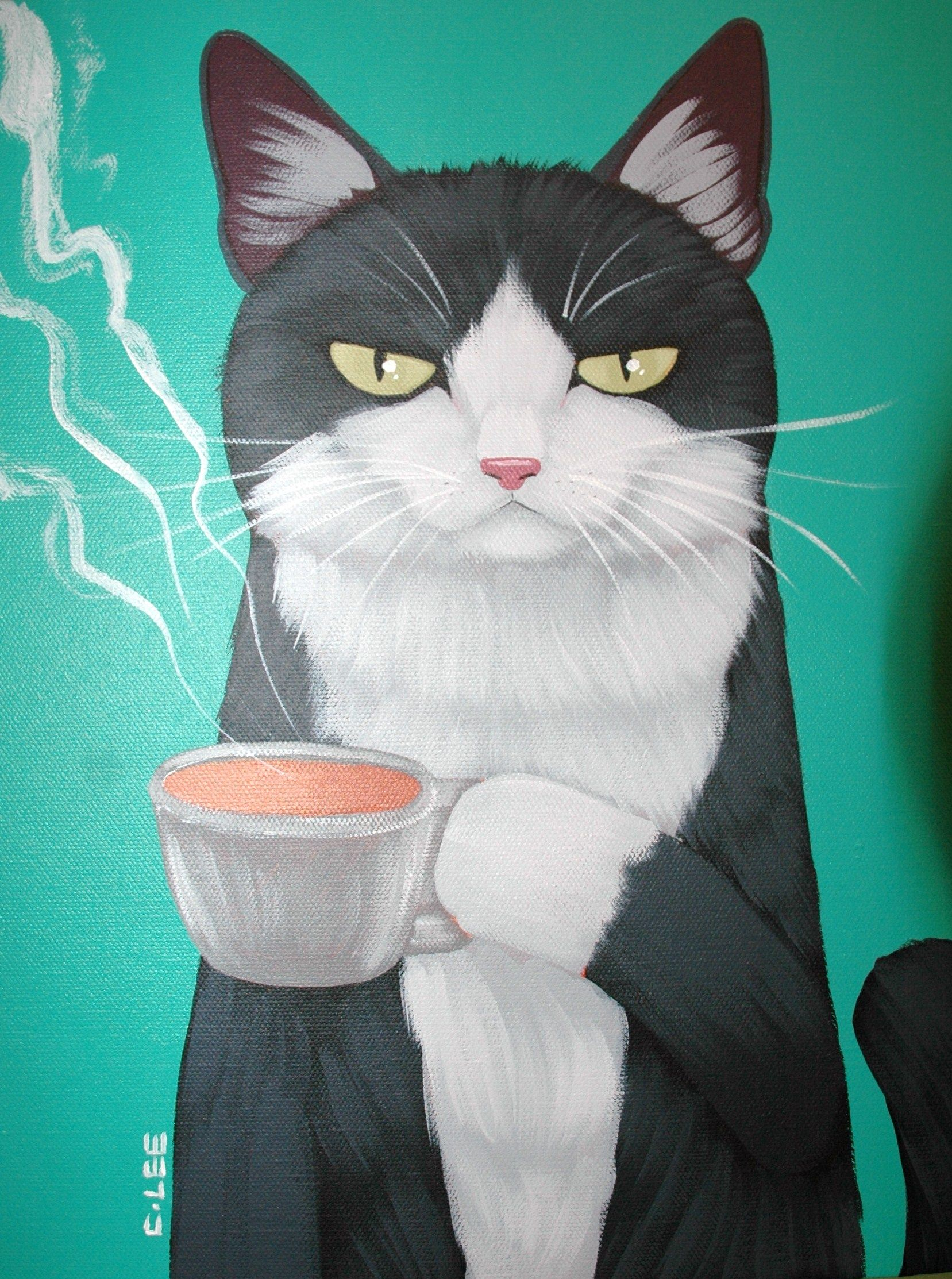 Coffee Cat is not impressed with your inferior blend