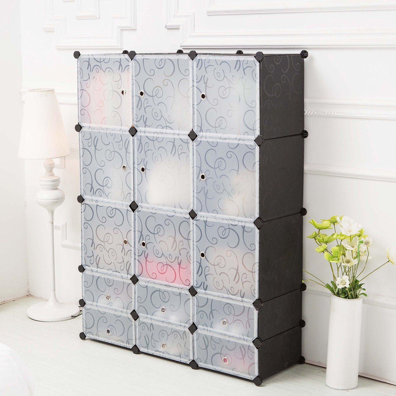 c ahome diy plastic wardrobe closet bedroom. Black Bedroom Furniture Sets. Home Design Ideas