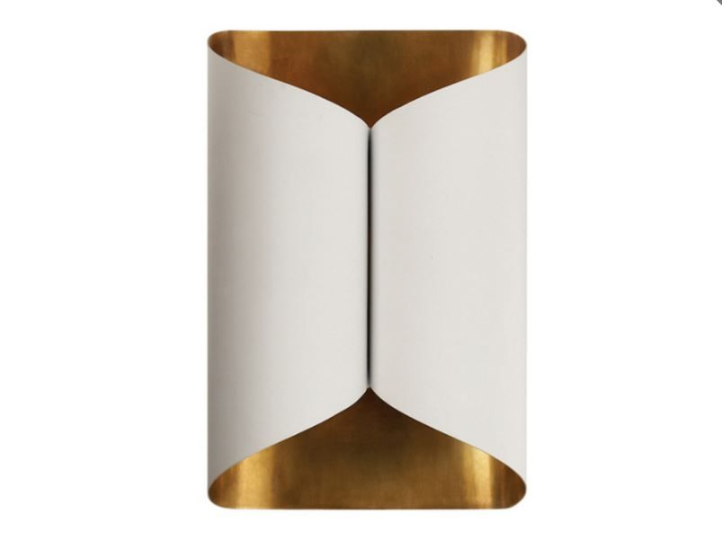 Selfoss Sconce In Plaster White With Gild Interior With Images Sconces Wall Lights Bedroom