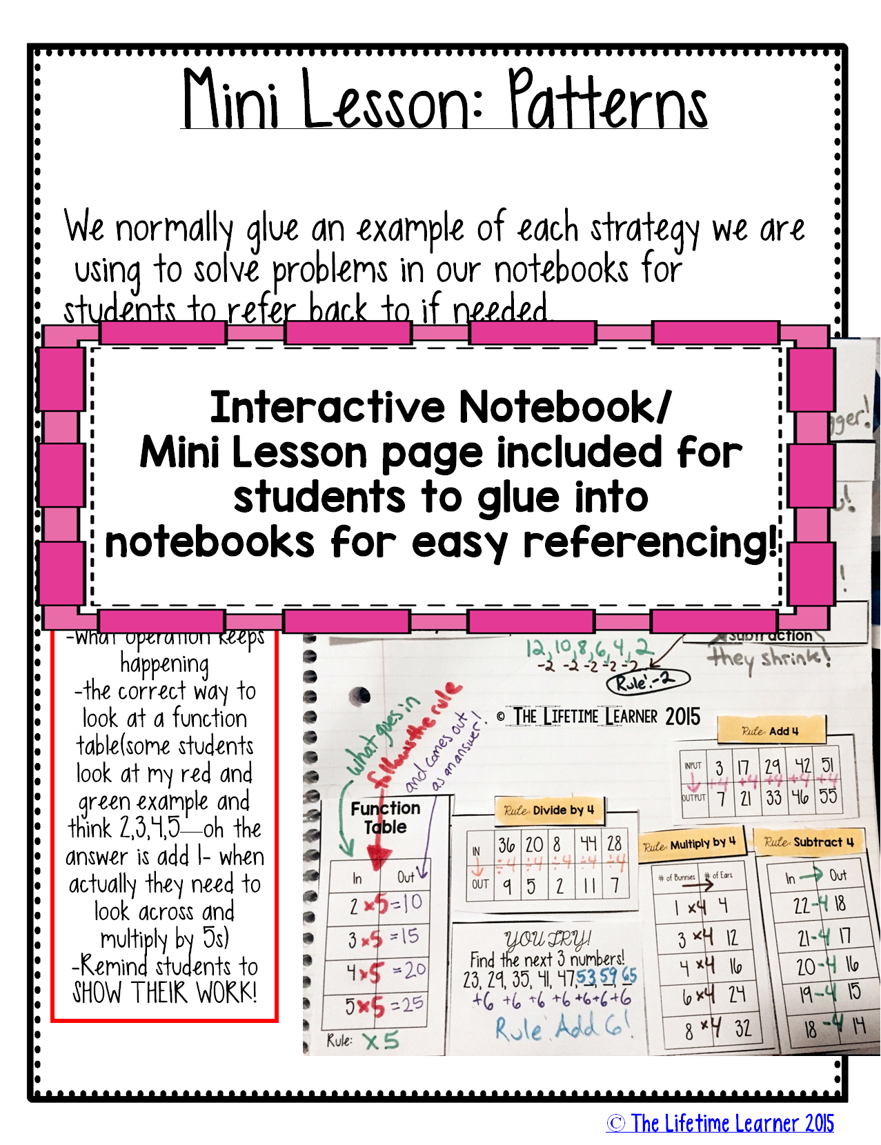 Worksheets Function Tables Worksheets patterns addition subtraction multiplication and division students