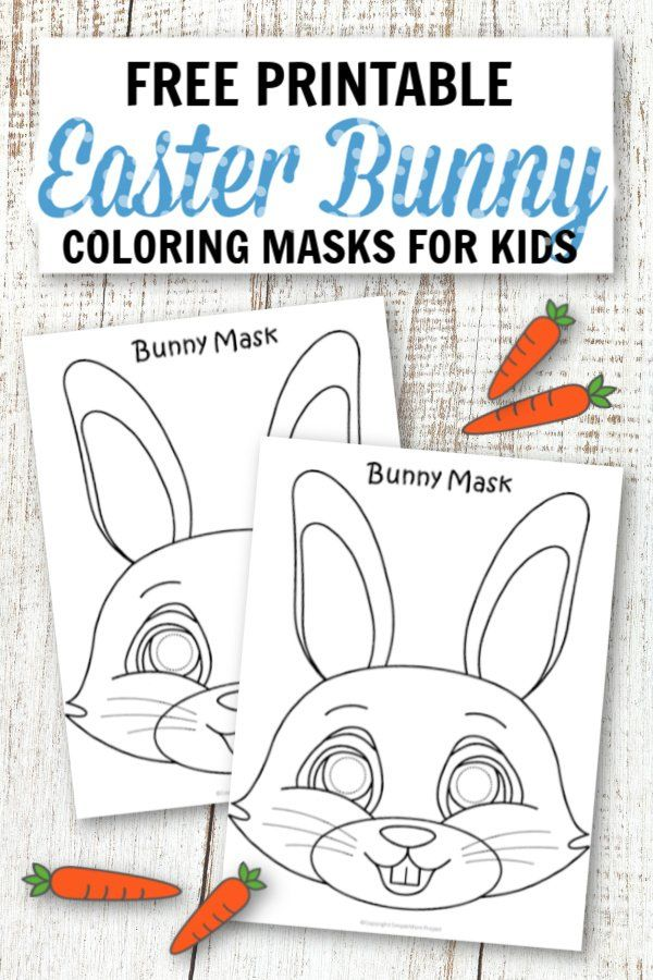 Free Printable Easter Bunny Mask Template in 2020   Easter ...