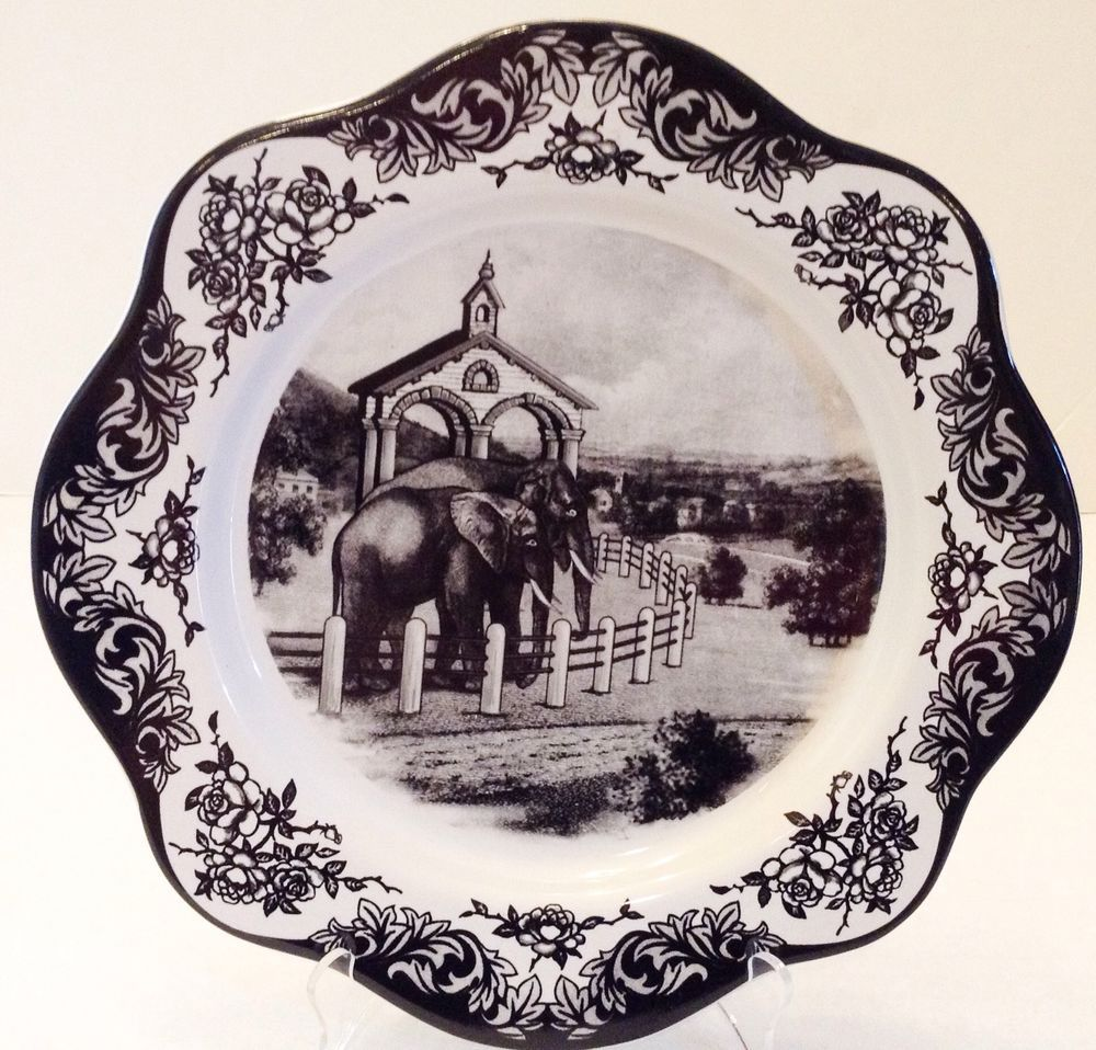 Back White Decorative Plate Elephant Not For Food Use & Back White Decorative Plate Elephant Not For Food Use | Home ...