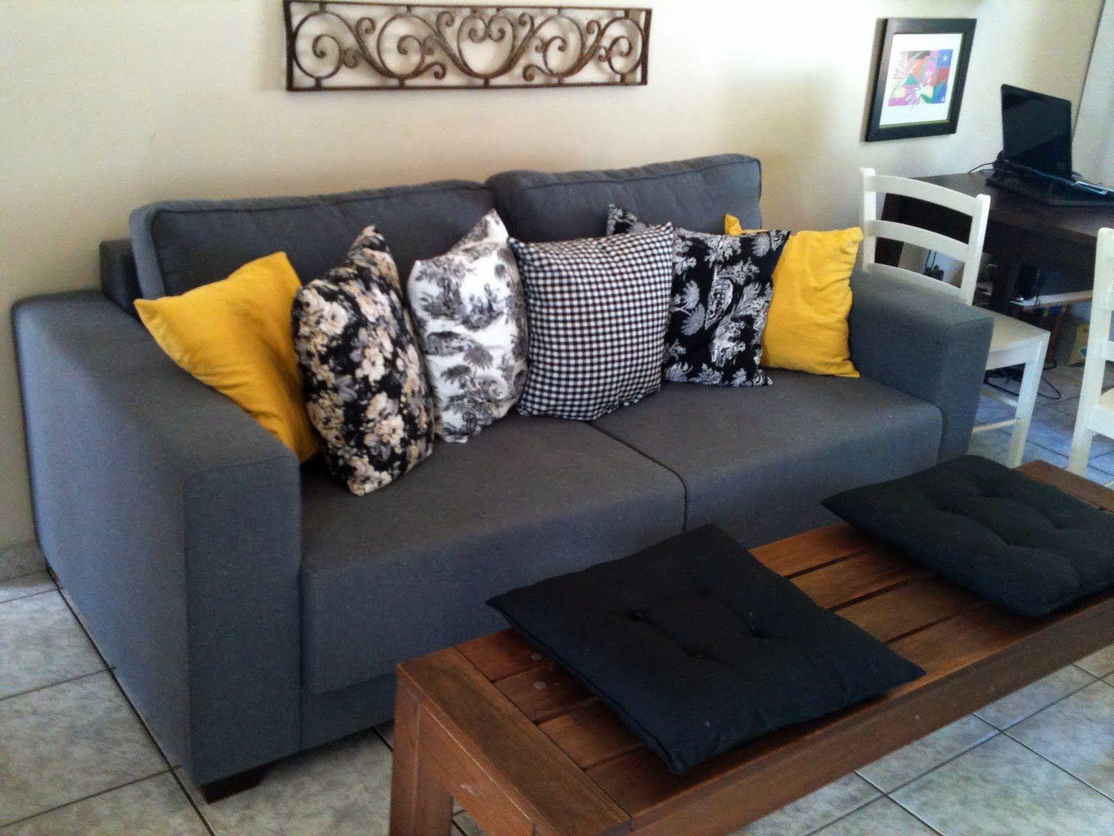 Sofa Cinza E Almofadas Coloridas Scandinavian Bed Uk Com Amarelas Pesquisa Google