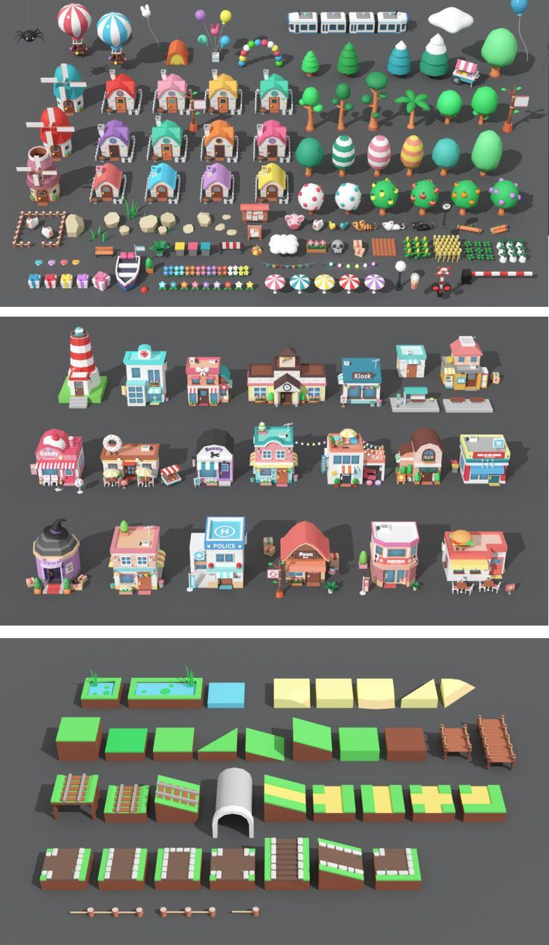 Cartoon Town Low Poly Assets Cartoon Town is a
