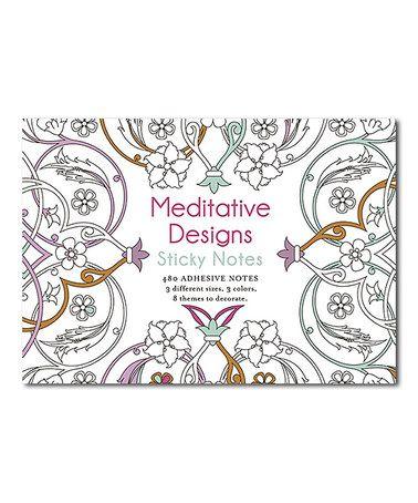 Meditative Designs Coloring Sticky Notes Set Zulilyfinds