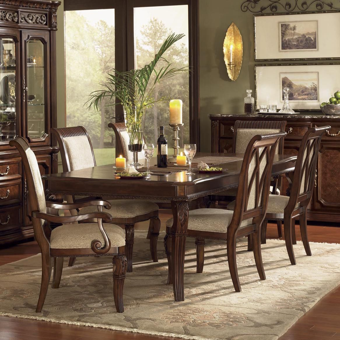 Dining Room Set With China Cabinet Granada Dining Room Set With Upholstered Chairs By Wynwood
