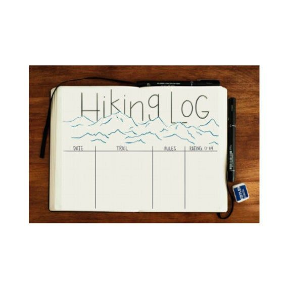 Hiking Log Bullet Journal PDF | Etsy