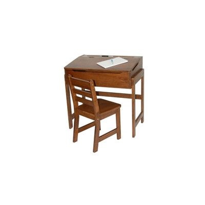 Lipper International Kids' Desk and Chair Set in Walnut 564WN,    #Lipper_International_564WN