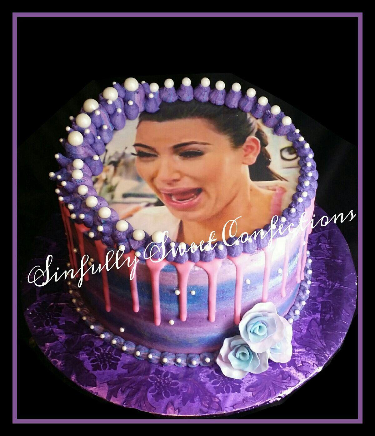 Kim Kardashian Themed Birthday Cake 24th birthday cake