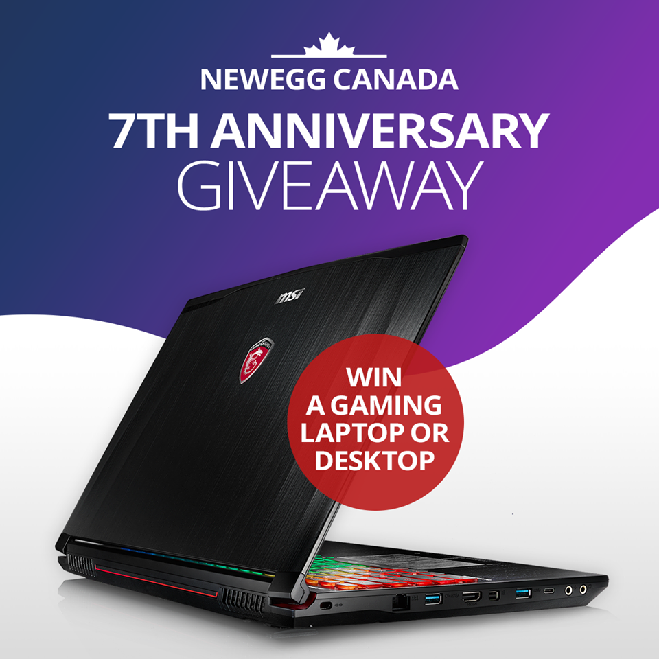 Newegg Sweepstakes: Win Gaming Laptop or Desktop, Smartphone