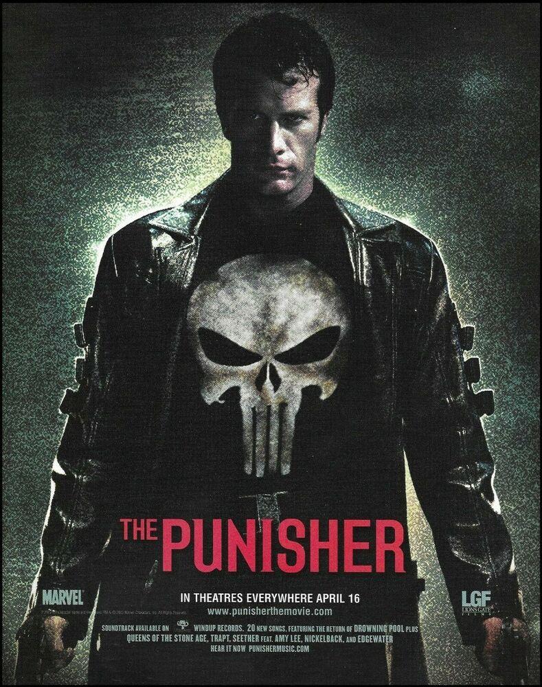 The Punisher 2004 Movie Thomas Jane Original 8 X 11 Advertisement Ad Print The Punisher Movie Punisher 2004 Punisher