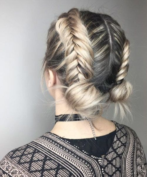 Jaw Dropping Dual Braids With Dual Updo Hairstyles 2019 to Look Modish This Year | Trendy Hairstyles #shortupdohairstyles
