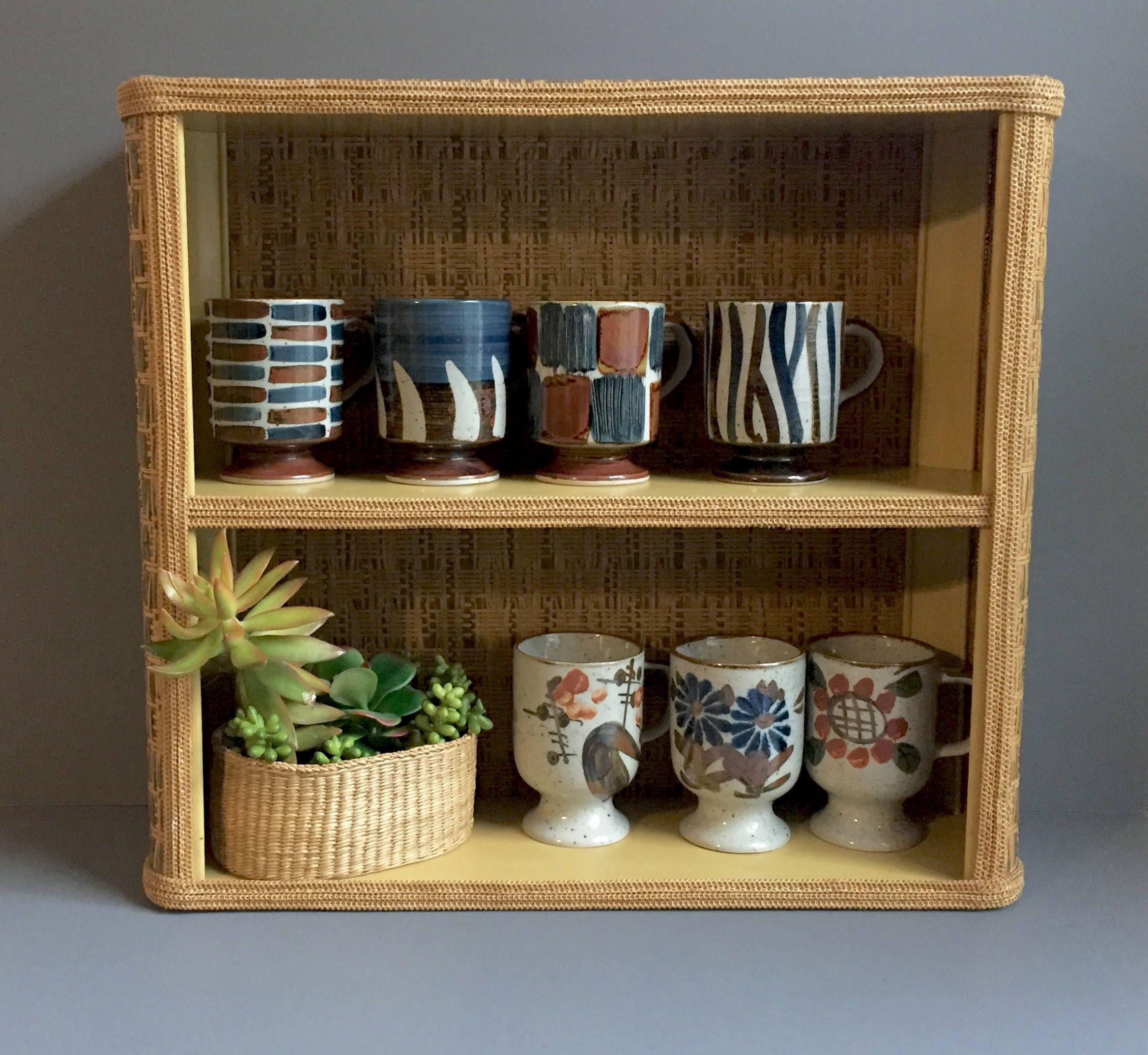 Small Wicker Wall Shelf By 1006osage On Etsy Small Wall Shelf Wall Shelves Shelves