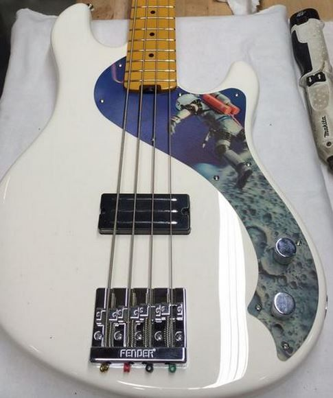 Fender Dimension bass with custom pickguard | Bass Guitars