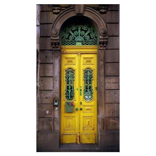 ~Porta amarela / Yellow Door Rua Fernandes Tomás 749 - Porto - Portugal Love those colors yellow green grey  sc 1 st  Pinterest & First Come Flowers ❤ liked on Polyvore | Doors Windows \u0026 Gates ...