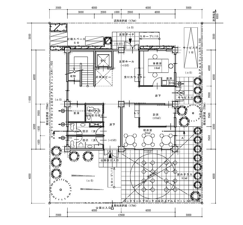 Rc造2階step製図講座 Rc造 製図 フロアプラン