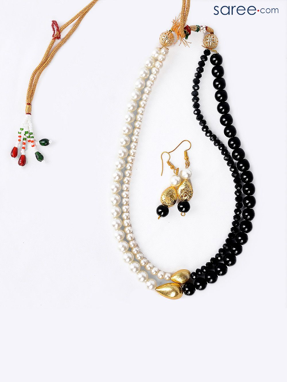 Black and white contemporary beads set accessories pinterest