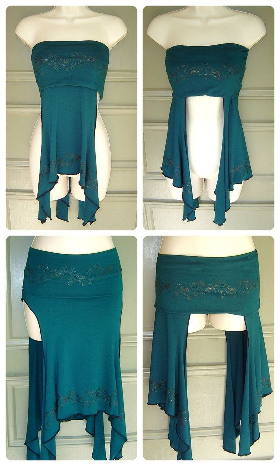 The Alexa skirt is a fabulous layering piece: over your pants, leggings or skirt. It can also be worn as a bandeau top, or a neck cowl. Twist