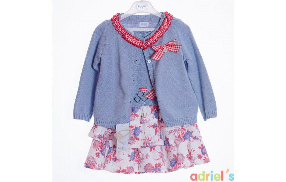 50091392fa1 Chaqueta niña azul Foque - adrielsmoda.es