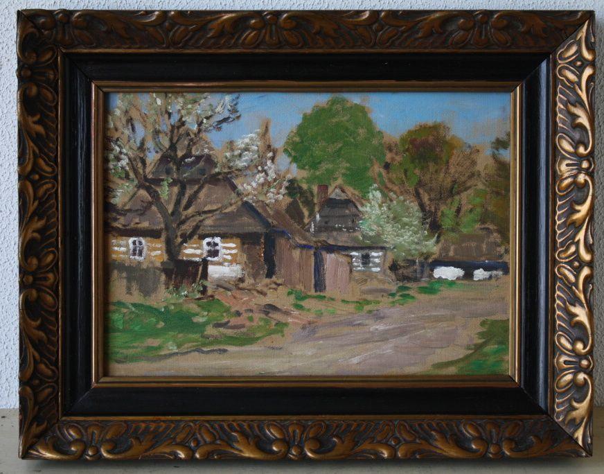 GUSTAV MACOUN (1892 - 1934) Cesta ke chalupam,Olej