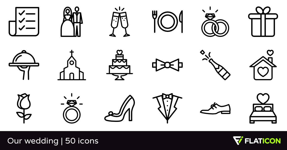50 Free Vector Icons Of Our Wedding Designed By Freepik Wedding Icon Our Wedding Wedding
