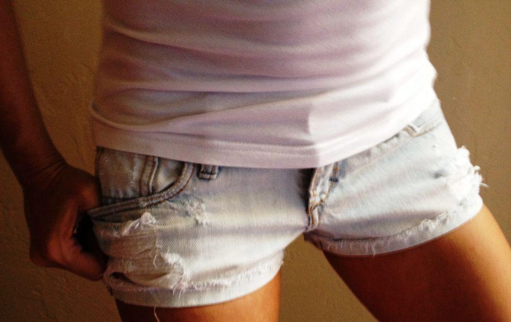 00-Abercrombie & Fitch Stretch factory Distressed Denim Jean Shorts #AbercrombieFitch #Denim