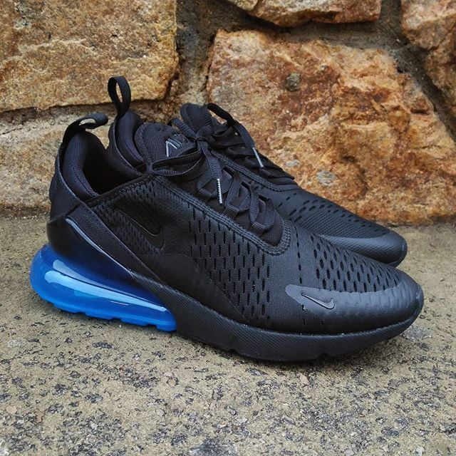 nike air max 270 black and blue
