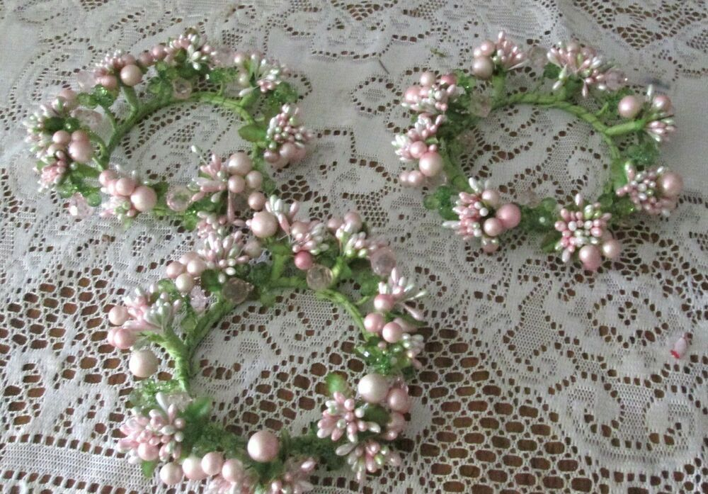 Qvc Valerie Parr Hill Set Of 3 Pink And Green Floral Spring Candle Rings Valerieparrhill Spring Candles Valerie Parr Hill Candle Rings