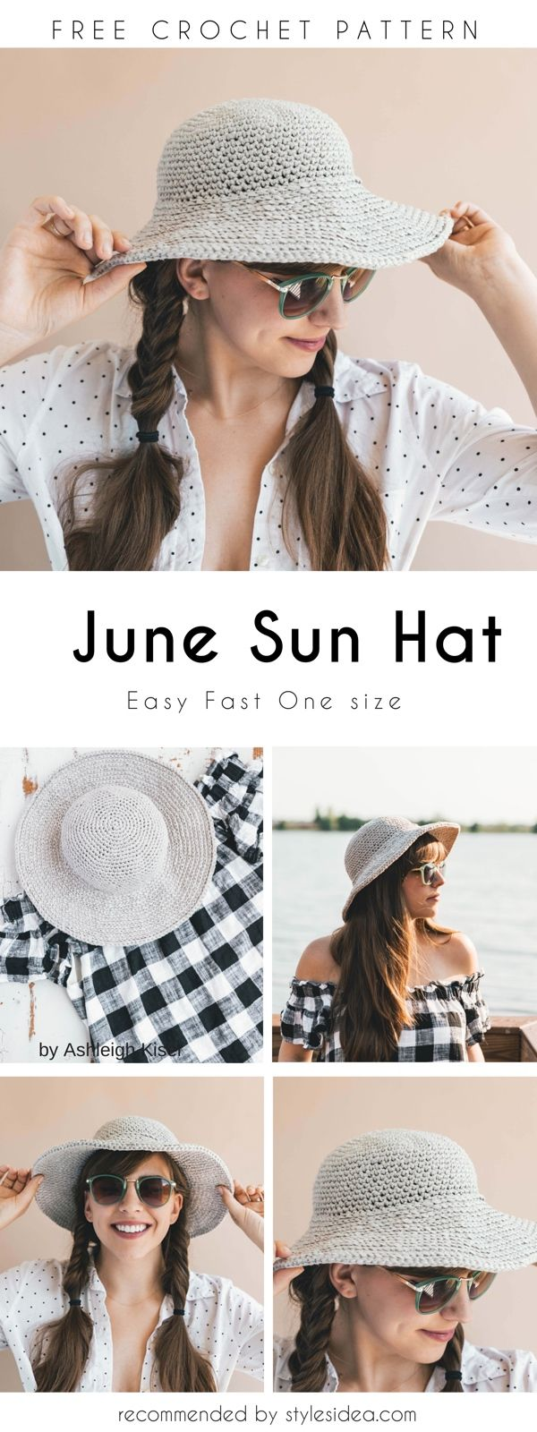 June Sun Crochet Hat Free Pattern | Pinterest | Hut häkeln, Diy ...
