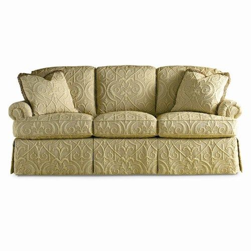 Traditional Sofa With Loose Back Cushions And Rolled Arms By
