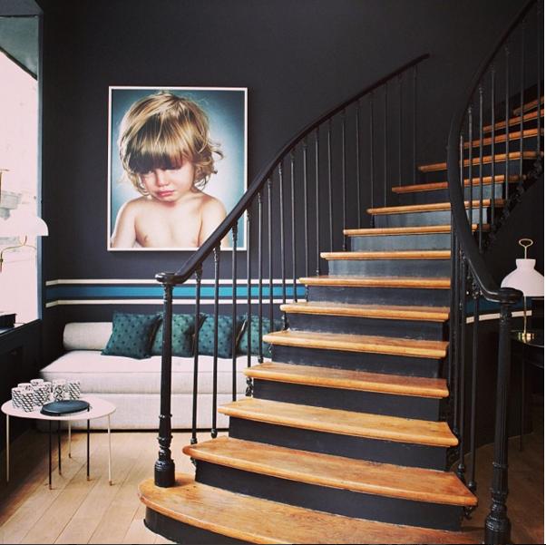 couleur radis noir peinture ressource maison sarah lavoine et sarah lavoine. Black Bedroom Furniture Sets. Home Design Ideas