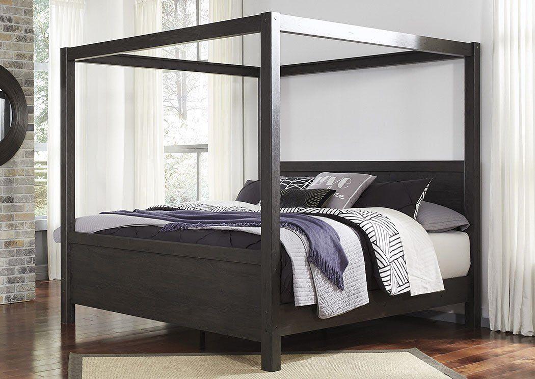 Black Queen Canopy Bed Queen canopy bed, Furniture